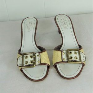 Coach Shoes Sandal Slides Heels Size 7 M
